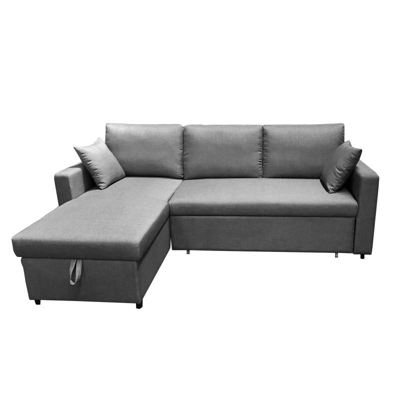 MR3座位布藝梳化床