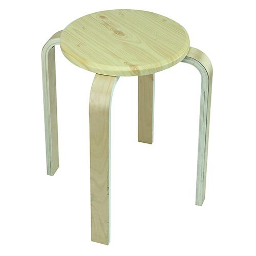 JAPANHOME圓形木腳疊凳