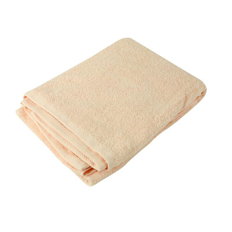KATO淨色浴巾-粉橙色