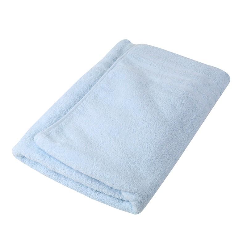 KATO淨色浴巾-粉藍色
