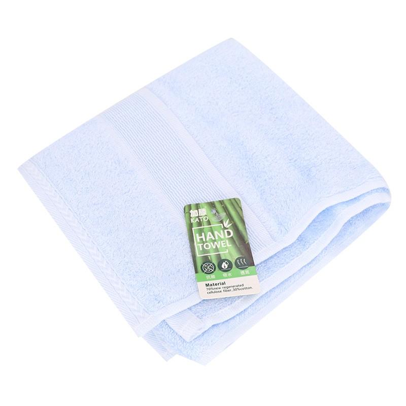 KATO竹纖維毛巾粉藍