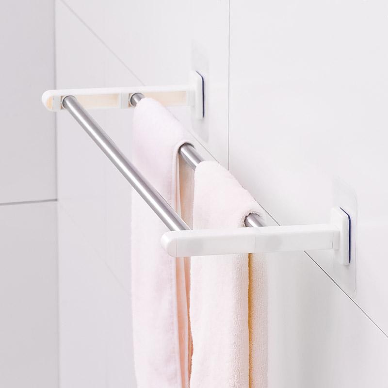 免鑽牆免鑽牆兩桿靜電貼毛巾架 (自行組裝)