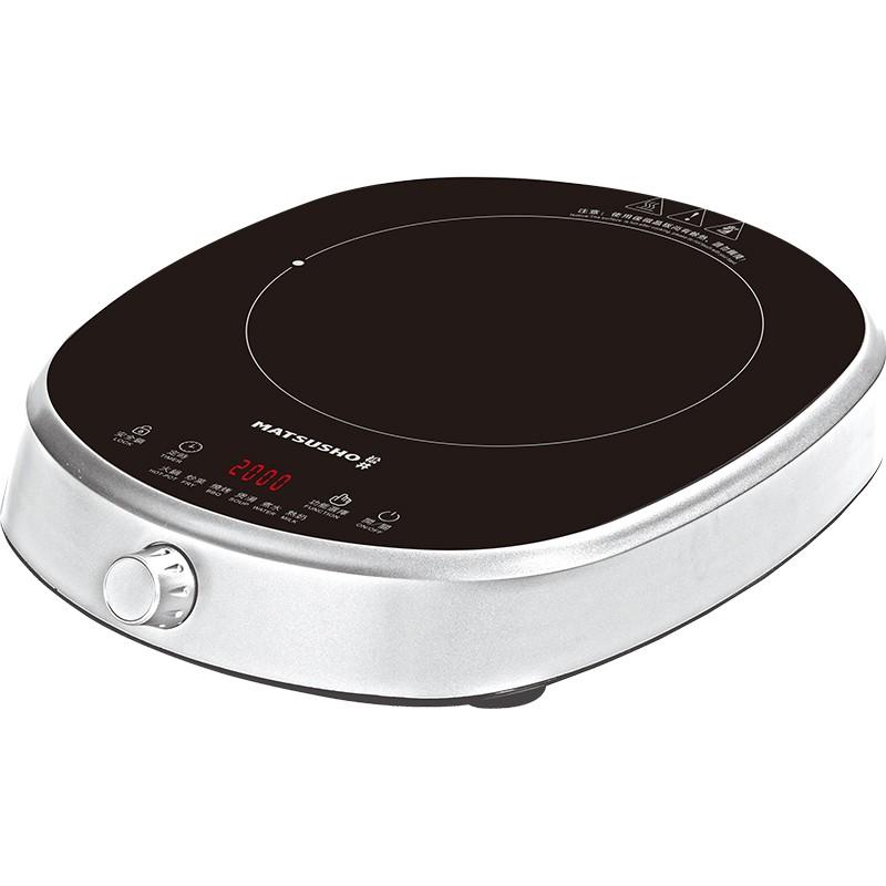 松井電磁爐2000W 旋鈕及輕觸雙控, 送特厚鋼煲