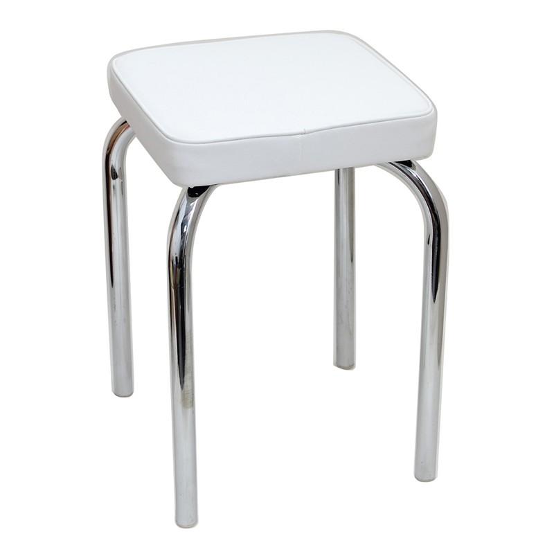 Japanhome厚軟坐墊疊凳-米白