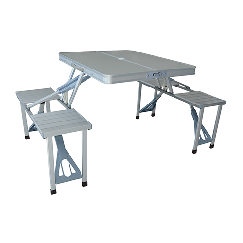 鋁合金鋁合金摺疊桌連四椅