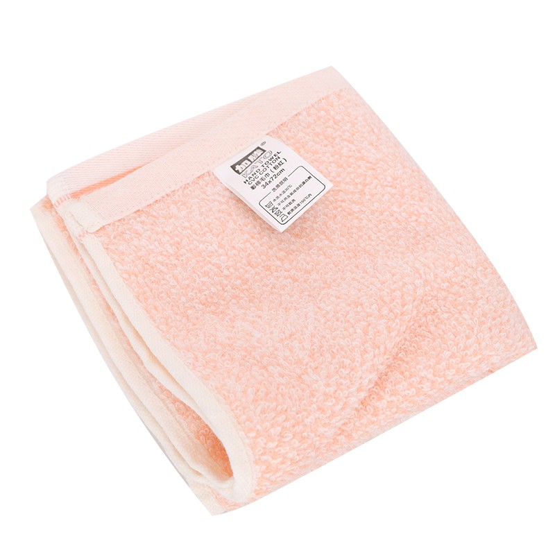 KATO彩棉毛巾粉紅