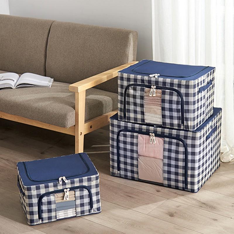 JAPANHOME藍白格小號儲物箱