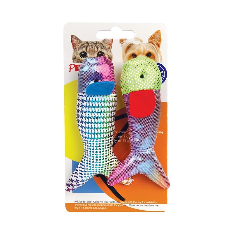魚形貓玩具2件