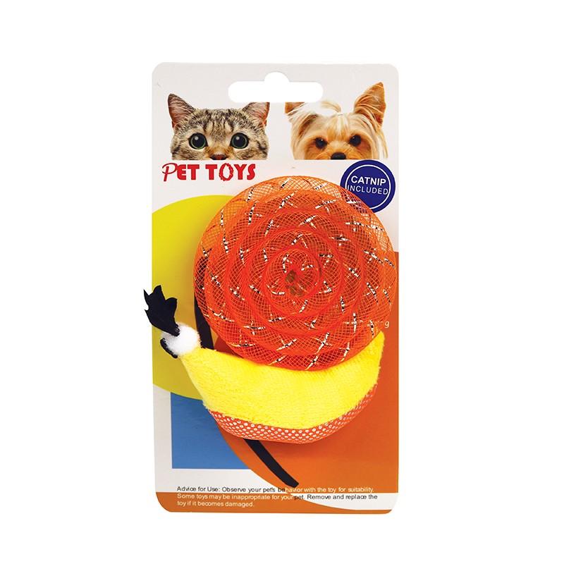 蝸牛形貓玩具