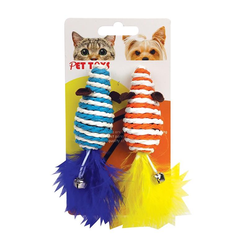 老鼠形貓玩具2件