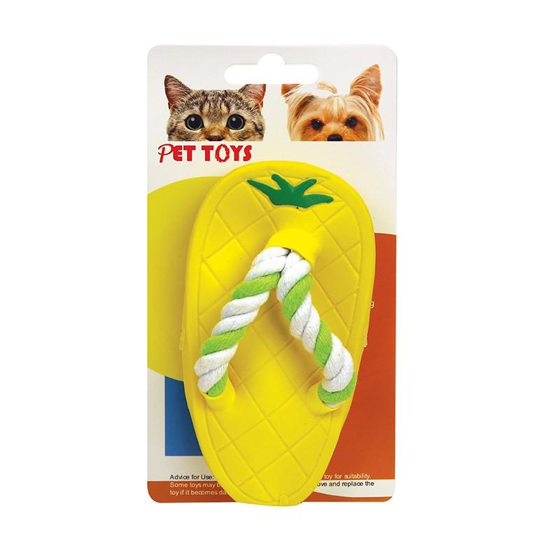 黃色拖鞋狗玩具