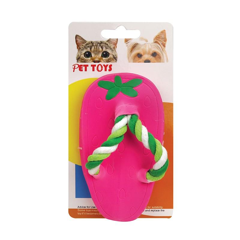 粉色拖鞋狗玩具