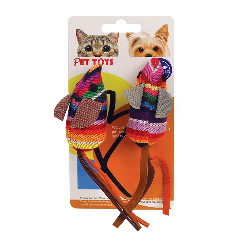 鼠形貓玩具2件