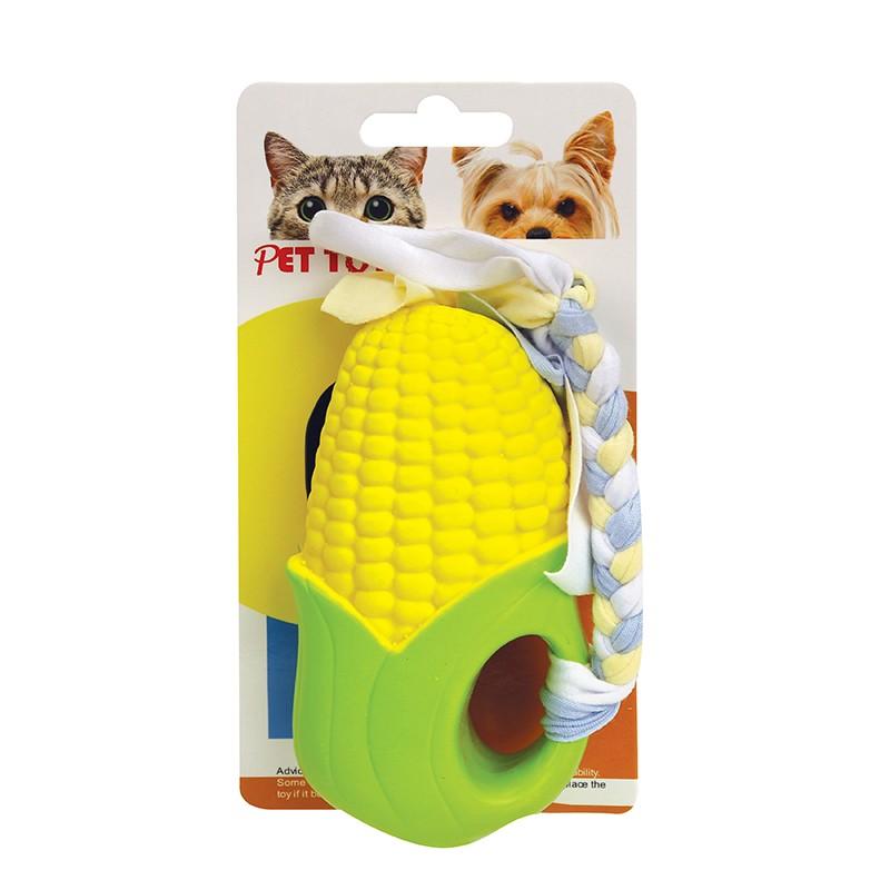 玉米帶繩狗玩具