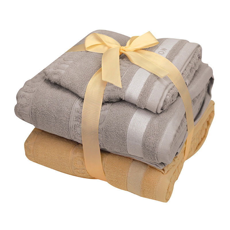 KATO全棉浴巾2條+毛巾2條套裝
