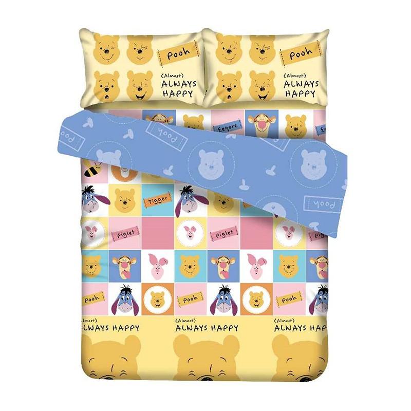 WINNIE THE POOH維尼熊雙人4呎半床笠枕袋套裝