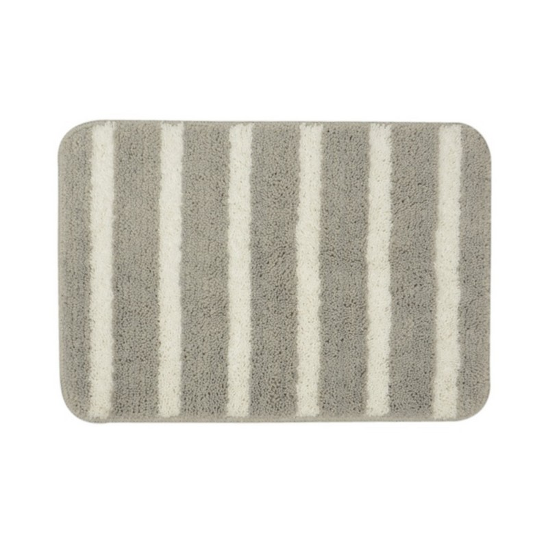 KATO粗條紋浴室地墊-淺灰