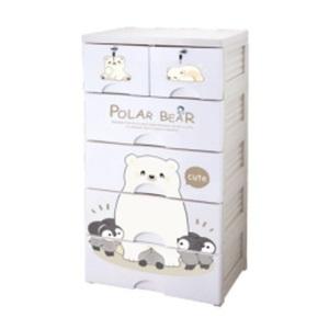 大白熊大白熊5層連鎖儲物柜 (預售貨品, 11月30日開始到店內取貨)