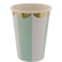 FESTIVALFESTIVAL紙杯八隻裝(淺綠)