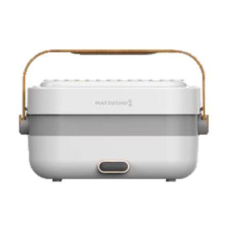 MATSUSHO 松井雙層不銹鋼輕便蒸煮盒-木紋系列白