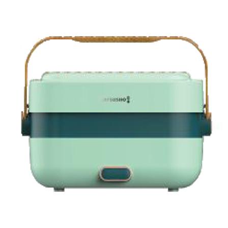 MATSUSHO 松井雙層不銹鋼輕便蒸煮盒-木紋系列綠