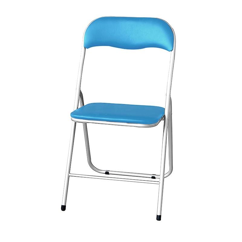 JAPAN HOME 靠背摺椅-粉藍