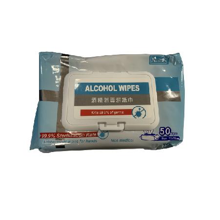 NAXOS75%酒精消毒濕紙巾50片