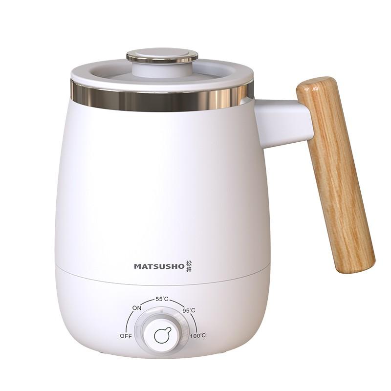 松井木手柄多用途電熱杯3段溫度-白色 400ML