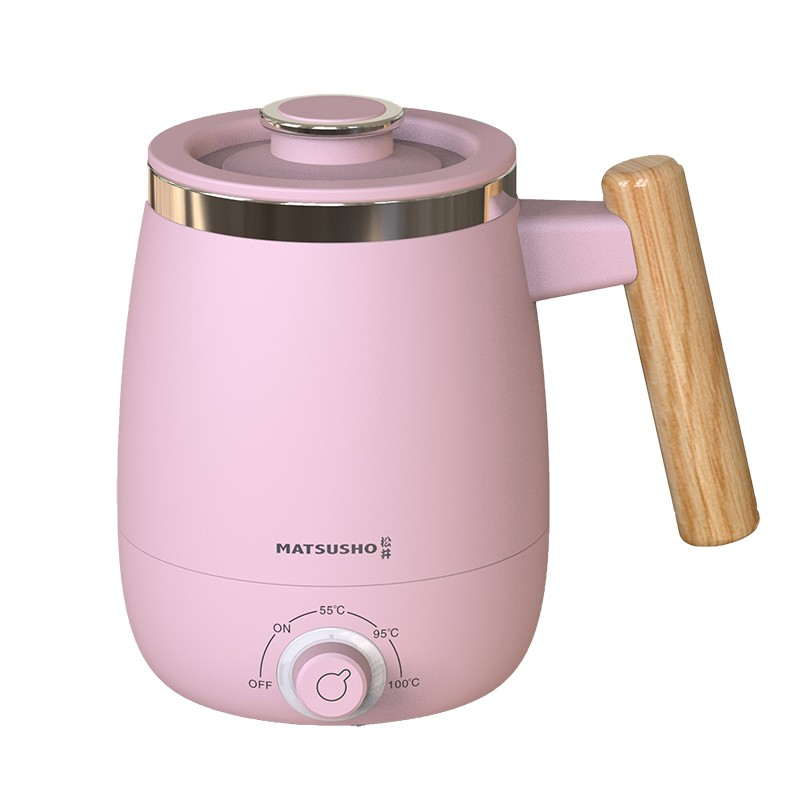 松井木手柄多用途電熱杯3段溫度-粉紅 400ML