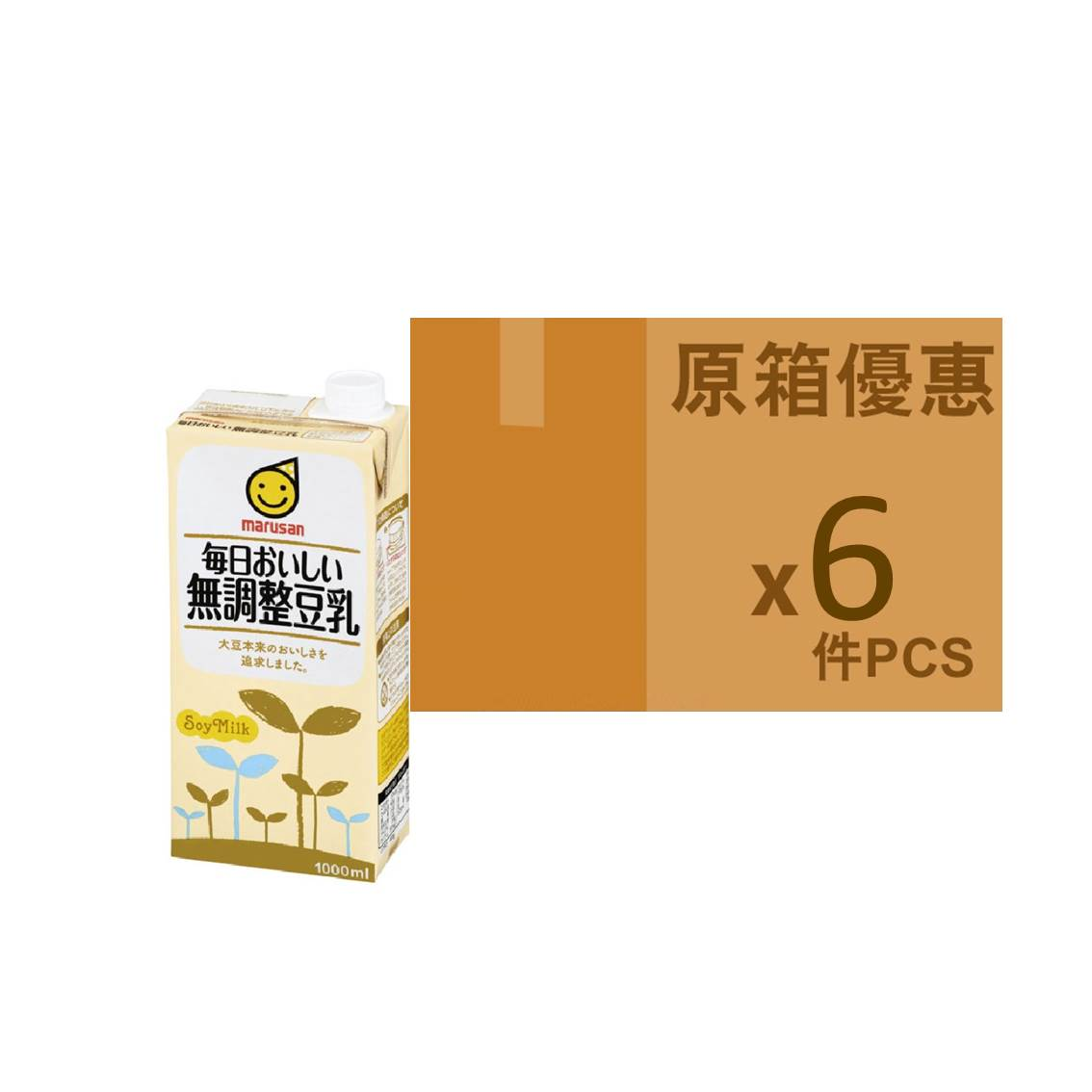 MARUSAN日版無調整豆乳 1L (原箱)