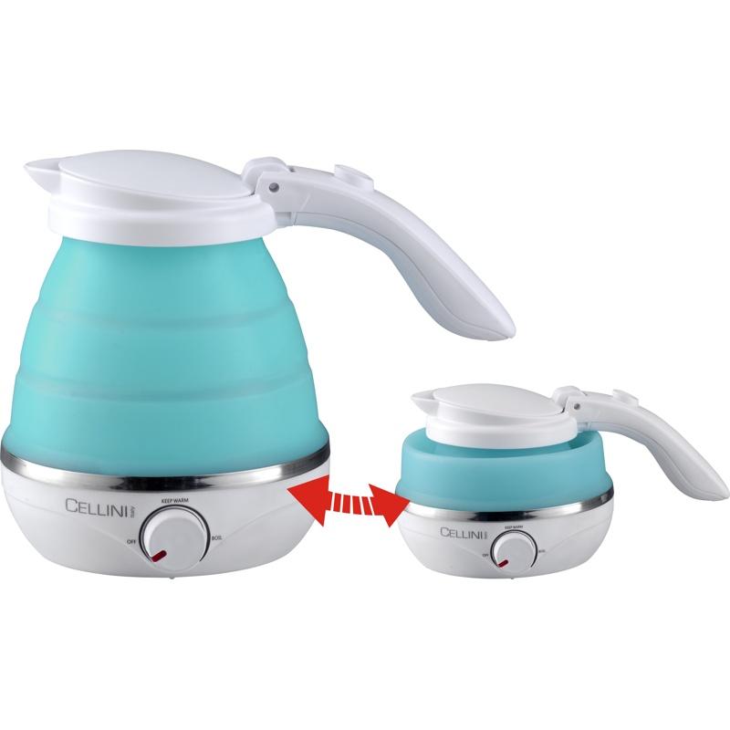徹里尼0.5公升雙電壓摺疊式保溫旅行水壺