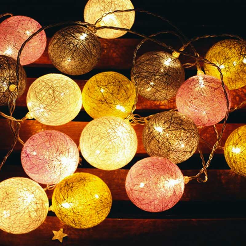 陽LED粉色球燈串
