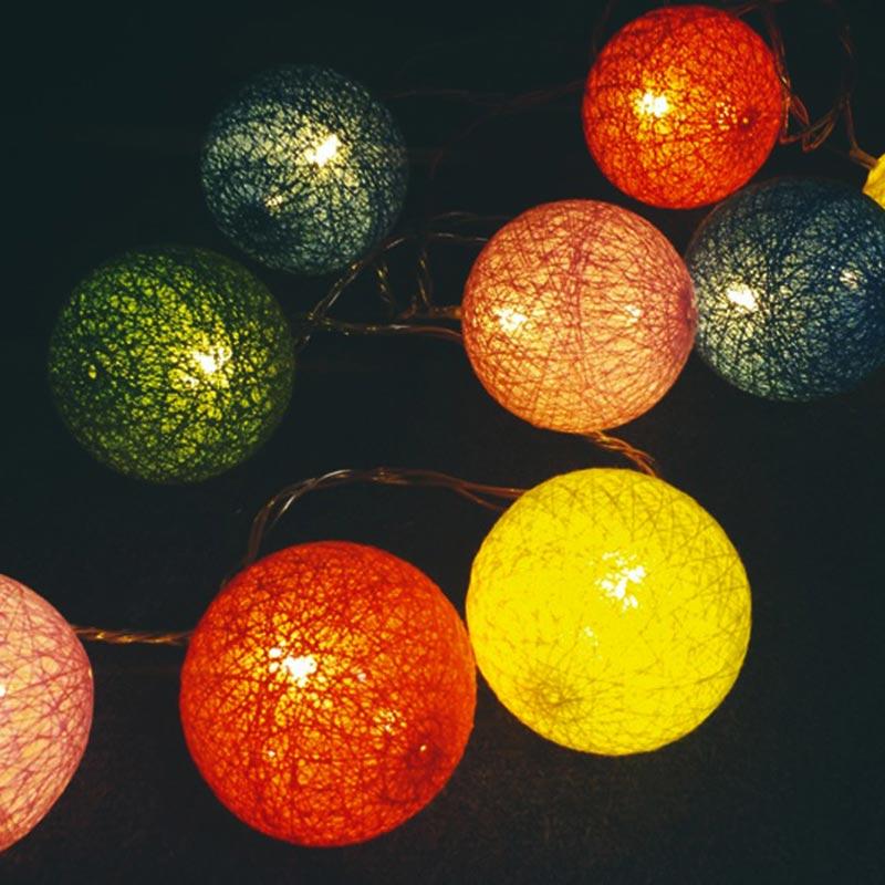陽光LED彩虹球燈串