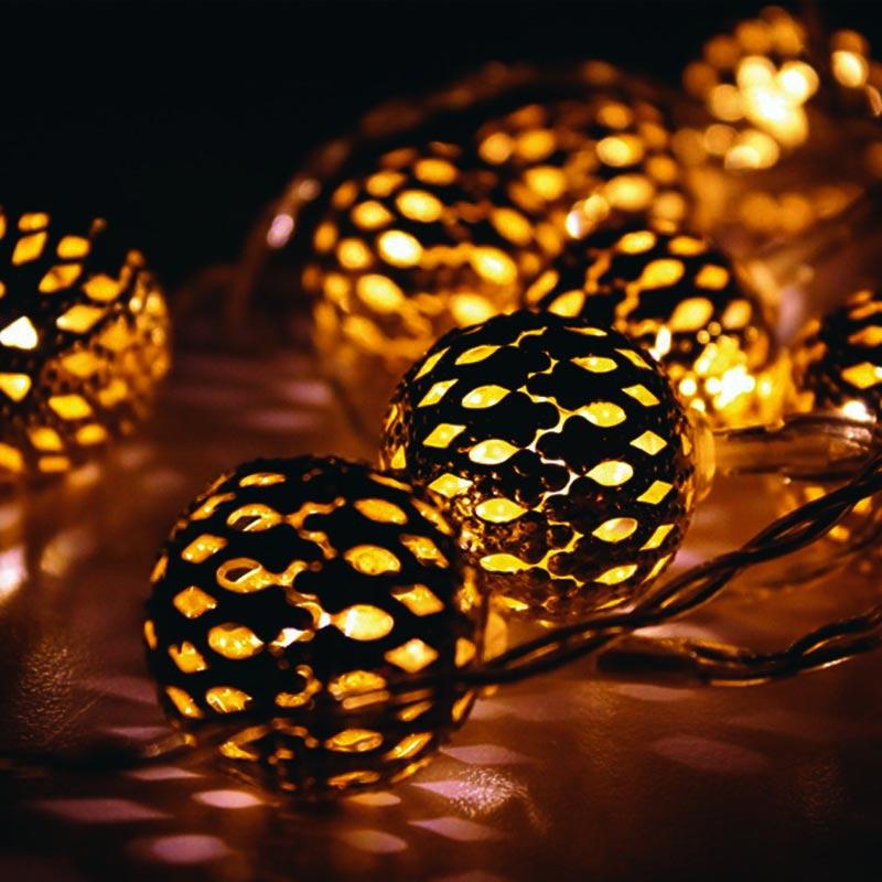 陽光LED金球燈串