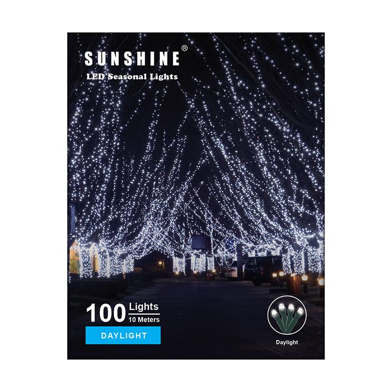 陽光LED燈串白光
