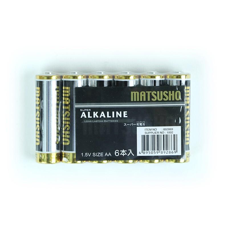 松井1.5V AA型號鹼性電池 - 6粒