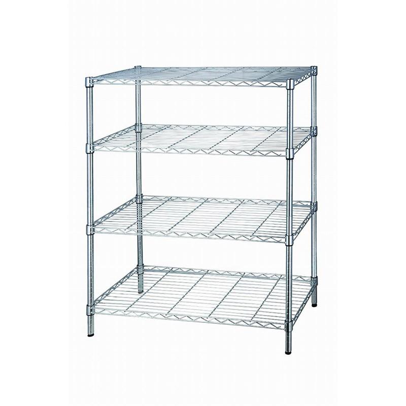 EZ HOME四層長形鍍鉻鐵架