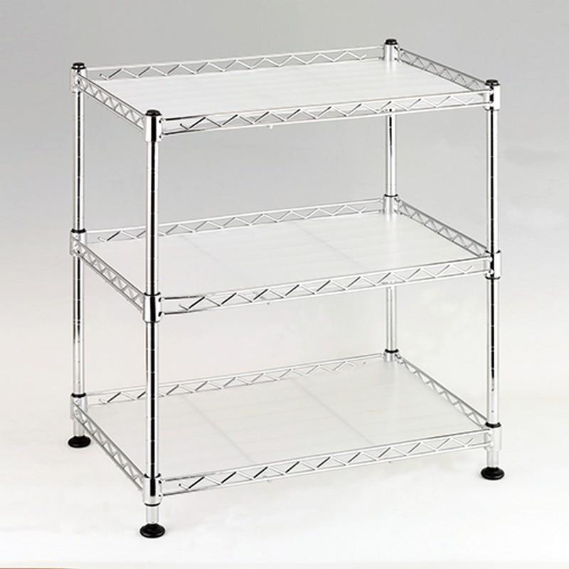 EZ HOME三層長方型鍍鉻鐵架