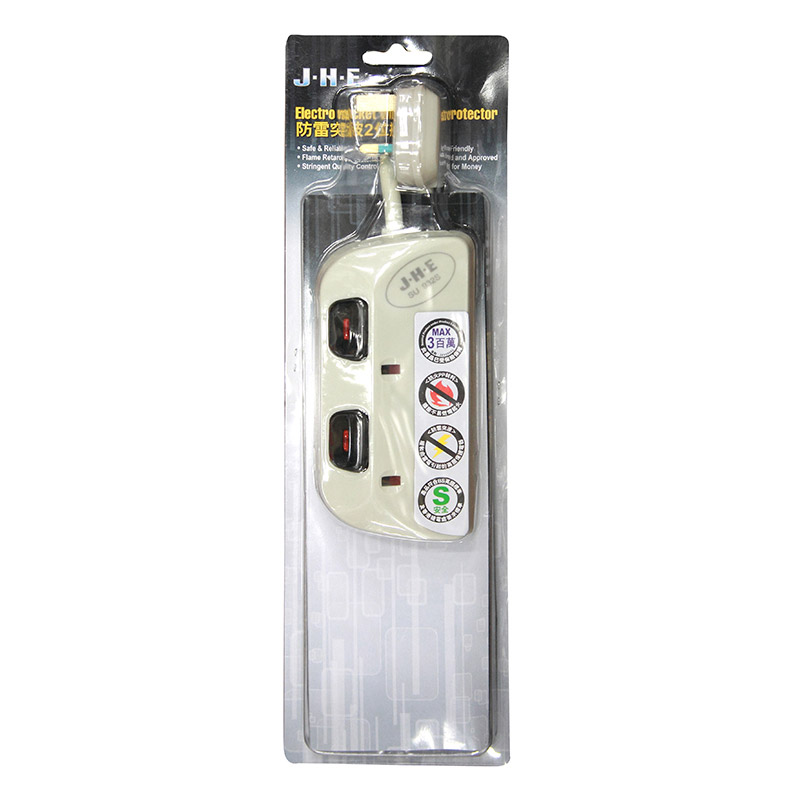 JHE防雷2位獨立制拖板13A-250V