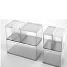 JAPANHOME可疊式透明收納盒(顏色隨機)