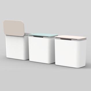 JAPANHOME長方型桌上垃圾桶