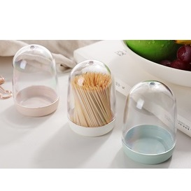 JAPANHOME圓型牙籤筒(顏色隨機)