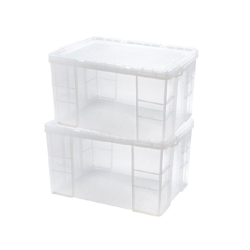 Japanhome兩件裝特厚加硬直身儲物箱86
