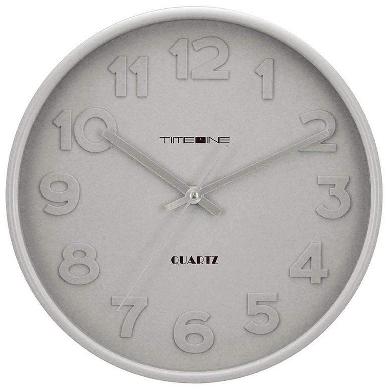 TIMELINE立體掛牆鐘-灰