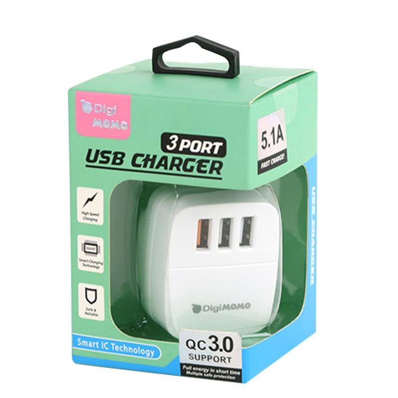 DIGIMOMOUSB充電器QC3.0+2.1A
