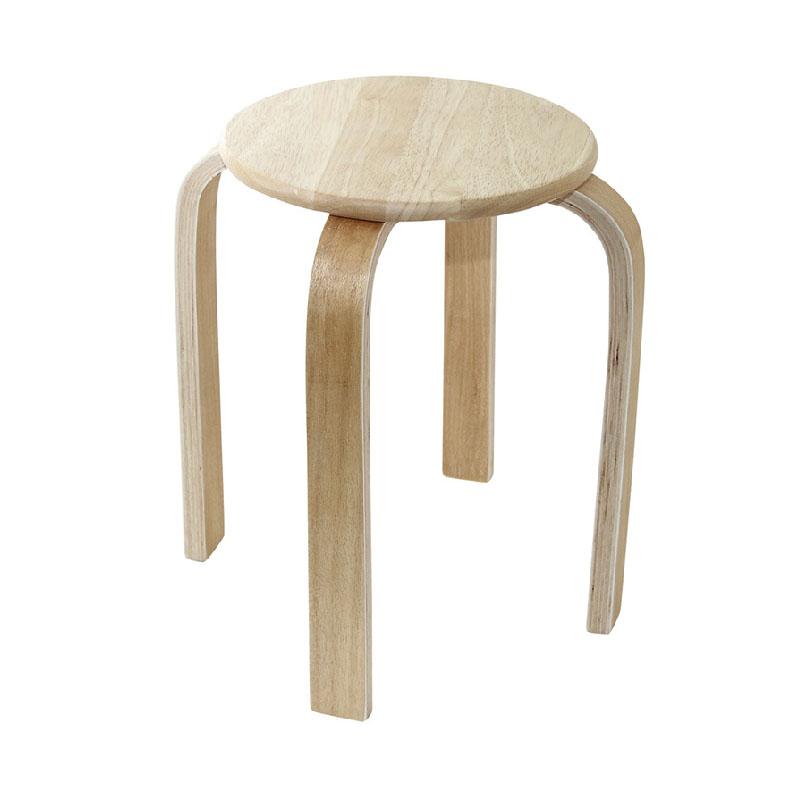 JAPANHOME橡木疊凳