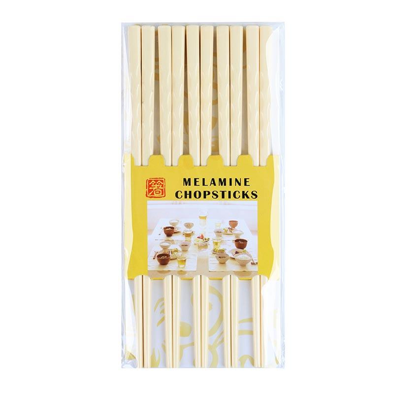 箸 10對裝美耐美筷子-米色