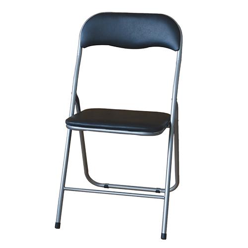 EZ HOME黑色靠背摺椅