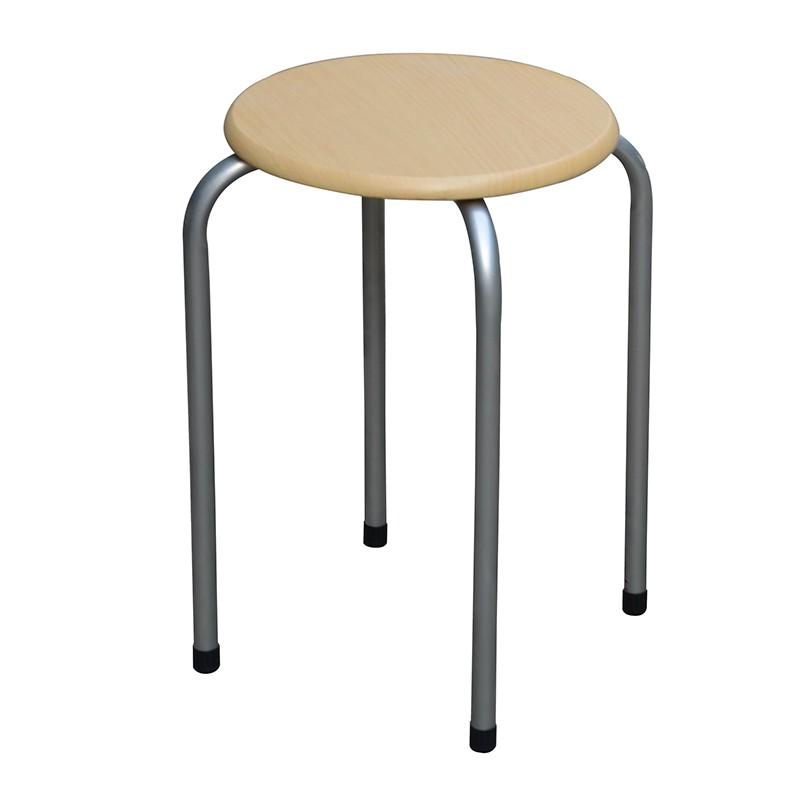 EZ HOME圓形木面疊凳(原木色)
