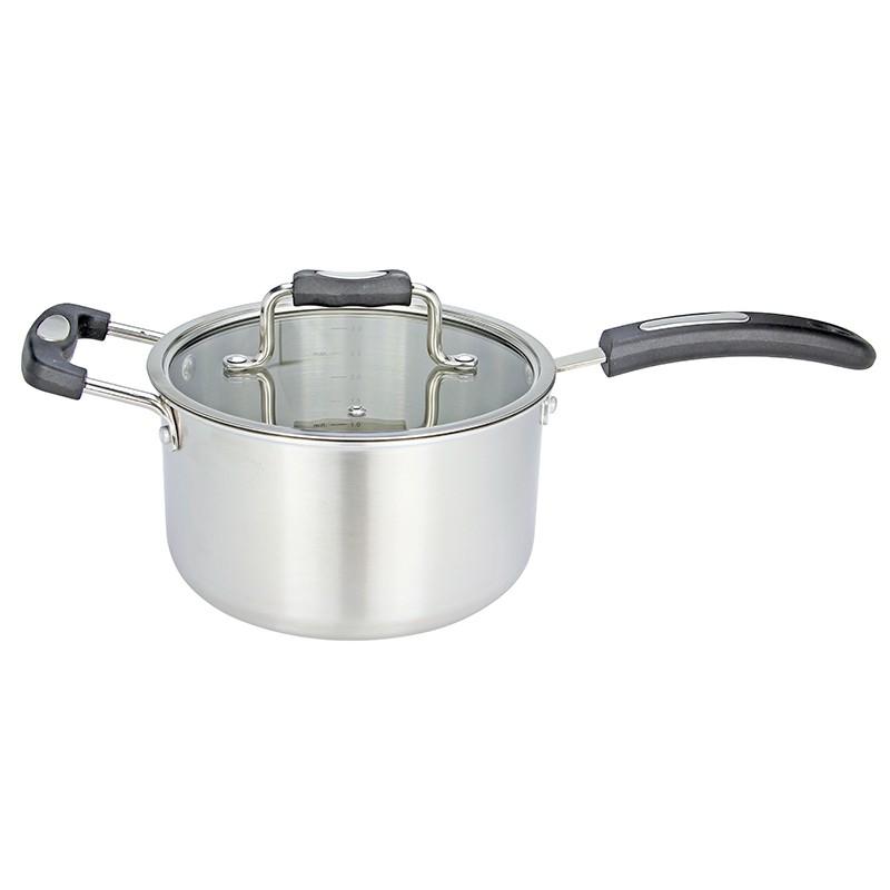 EZ Cook 三層復合鋼單柄煲 20cm